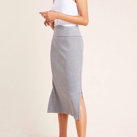 Saturday/Sunday Anthro Caro Ribbed Pencil Skirt